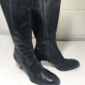 Anne Klein Leather Tall Boots sz 6M